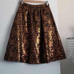 Gold foil skirt